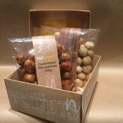Macadamias in a Nutorious gift box